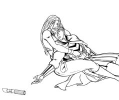 Jaina and . . . Jacen lineart by JosephB222