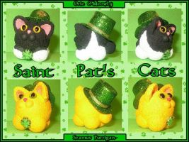 St Pat's Cats Minis by crokittycats