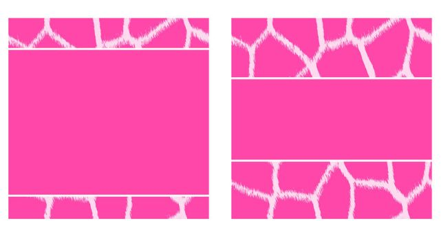 Pink and White Giraffe Paper and Business Card by StacyO
