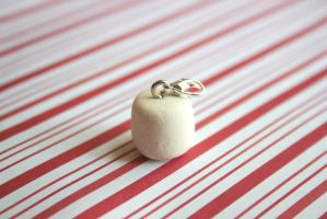 polymer clay marshmallow by l337Jacqui