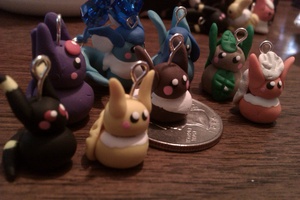 Eeveelution Charms by Kalorian