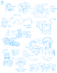 Stream Doodles 4/13/15 by Aileen-Rose