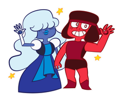 Sapphire and Ruby by Misora-Roll