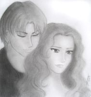 Draco and Hermione by ThreeAM
