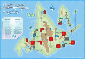 Sinnoh Map by cow41087