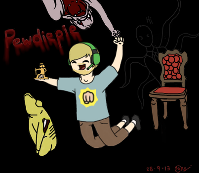 Pewdiepie drawing by TheForgottenWeasley
