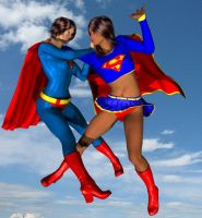 Supergirl earth d vs. superwoman earth 11 by cattle6