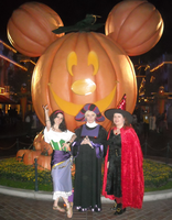 In front of the Mickey Pumpkin by ChristineFrollophile