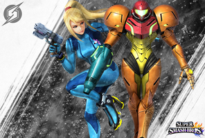 Samus ZeroSuit Samus SSB4 Custom Wallpaper by LivingDeadSuperstar