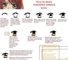 How to draw Kahoko's eyes by mythanime
