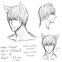 Yuu's bf: vincent face ref by minghii