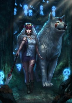 princess mononoke by Zamberz