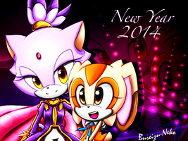 Happy New Year! - Blaze and Cream by Bureizu-Neko