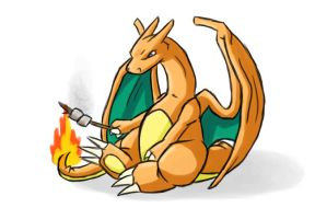 Charizard. -21 of 30- by Ununununium