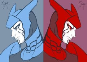 Blue Lanter Razer and Red Lantern Razer by elyoncat
