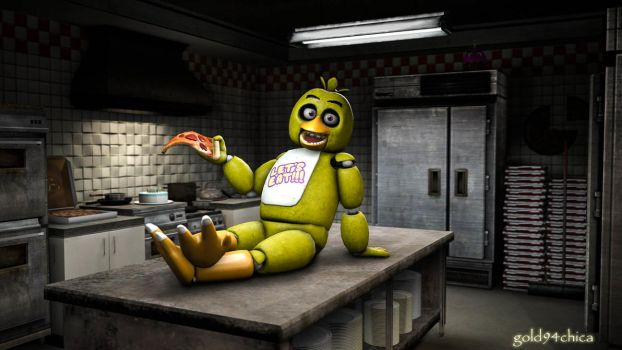 Welcome to my Kitchen! (Chica SFM Wallpaper) by gold94chica