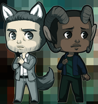 Vincent + Max - Chibis by KarniMolly