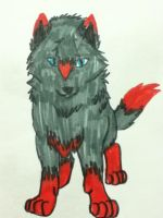 Cody the wolf pup by lavademon55