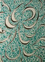 Green and Black Lines by Myxophobic