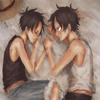 Luffy and Ace by SurfYourHeartOut