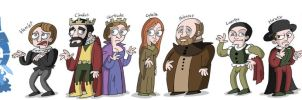 Shakespeare's Hamlet Cartoonimen by NewtMan