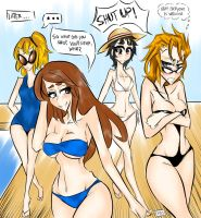 Comic-ssion! At the Pool 5 by AnubinatorX
