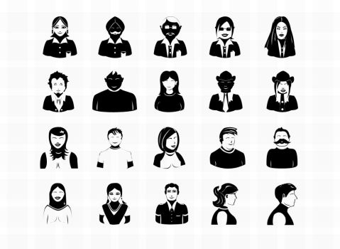 20 free vector Photoshop avatar icons by developmenticon