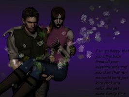 Claire and Chris family time chrisredfieldre1 requ by Link1245
