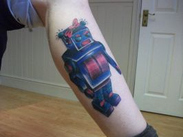 traditional style robot tattoo by LianjMc