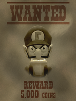 Wanted poster 1 Waluigi by ZeFrenchM