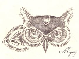 Henna owl 2 by Mymy-La-Patate