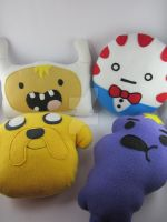 Finn, Peppermint Butler, Jake and LSP Plush Pillow by LittleCritters00