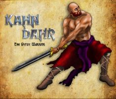Kahn Dahr, The Gypsy Warrior by ajb3art