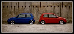 Blue vs Red by Andso