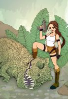 Lara Croft: Dinosaur Hunter by SimplyErika