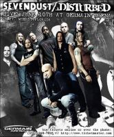 Sevendust+Disturbed Concert Ad by GreatNScott