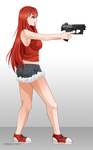 Comm011 :: Saoirse Shooting Stance by Kuichuu