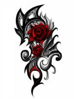 Black Rose Tribal Design by Thefreerunner1995