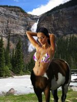 centaur in montain by tsilver