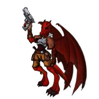 Gunsinger kobold color by N647