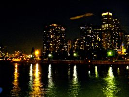 Chicago Skyline Nightscape: 01 by TropicalxLondon