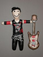 RZK with guitar clay figure by thessias