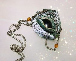 Forest Dragon Eye Necklace by PixiesLot
