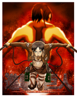 Attack on Titan Poster by dimensioncr8r