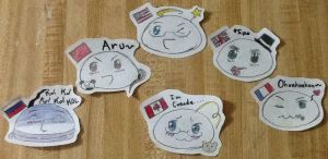 Hetalia Mochis-The Allies...and Canada.. by 8888DeathTheKid