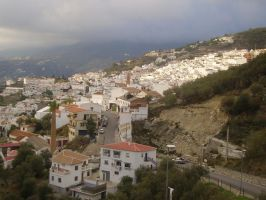 spanish hillside town by 8-days-till-sunday