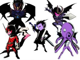 Viewtiful Joe: Alastor's forms by VexenRandomDrawerGuy
