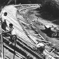 Monza banking under construction (1922) by F1-history