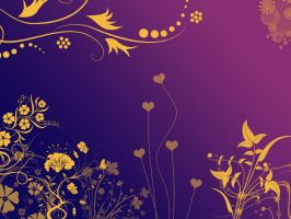 Yellow Flowers in Purple Night by Daemonika