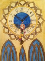 Angel on the Clock Tower by DarkAcey